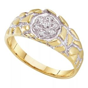 Other - 10K Solid Gold and REAL DIAMONDS Men's Nugget Ring
